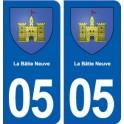 05 La Bâtie-Neuve blason ville autocollant plaque stickers