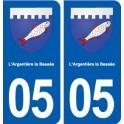 05 L'Argentière-la-Bessée blason ville autocollant plaque stickers