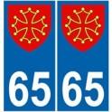 65 Occitan autocollant plaque