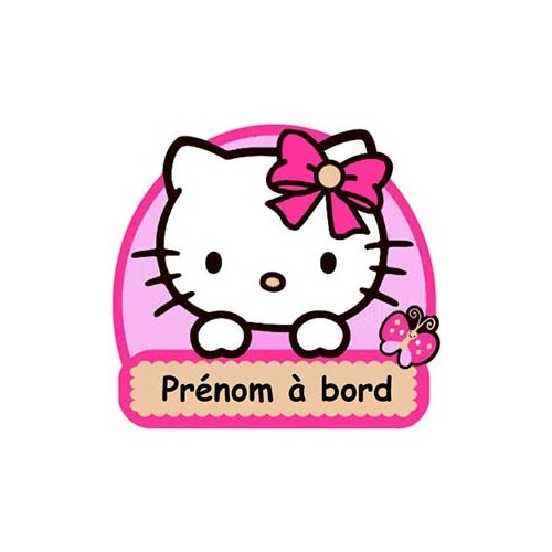 autocollant sticker b b bord personnalis hello kitty adh sif. Black Bedroom Furniture Sets. Home Design Ideas