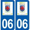 06 Peille logo ville autocollant plaque stickers