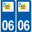 06 Saint Martin du Var logo city sticker, plate sticker