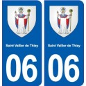 06 Saint-Vallier-de-Thiey coat of arms, city sticker, plate sticker