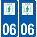 06 Saint-Vallier-de-Thiey logo city sticker, plate sticker