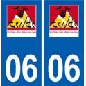 06 Tende logo ville autocollant plaque stickers