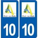 10 Arcis-sur-Aube logo city sticker, plate sticker