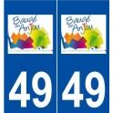 49 Baugé logo sticker plate stickers city