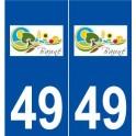 49 Bauné logo autocollant plaque stickers ville