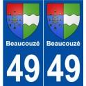 49 Beaucouzé blason autocollant plaque stickers ville