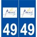 49 Beaucouzé logo autocollant plaque stickers ville