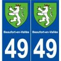 49 Beaufort-en-Vallée blason autocollant plaque stickers ville