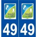49 Beaufort-en-Vallée logo autocollant plaque stickers ville