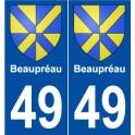 49 Beaupréau blason autocollant plaque stickers ville