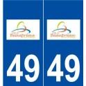 49 Beaupréau logo autocollant plaque stickers ville