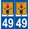 49 Bécon-les-Granits logo autocollant plaque stickers ville
