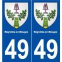 49 Bégrolles-en-Mauges blason autocollant plaque stickers ville
