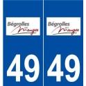 49 Bégrolles-en-Mauges logo autocollant plaque stickers ville