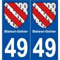 49 Blaison-Gohier blason autocollant plaque stickers ville