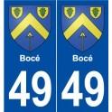49 Bocé coat of arms sticker plate stickers city