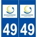 49 Bouchemaine logo autocollant plaque stickers ville