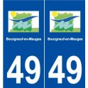 49 Bourgneuf-en-Mauges logo autocollant plaque stickers ville