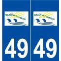 49 Brain-sur-l'Authion logo autocollant plaque stickers ville