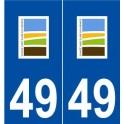 49 Charcé-Saint-Ellier-sur-Aubance logo sticker plate stickers city