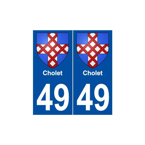 49 Cholet blason autocollant plaque stickers ville