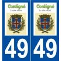 49 Contigné logo sticker plate stickers city