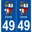 49 Horny coat of arms sticker plate stickers city