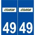 49 Coron logo autocollant plaque stickers ville