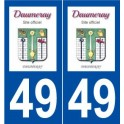 49 Daumeray logo sticker plate stickers city