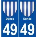 49 Denée blason autocollant plaque stickers ville