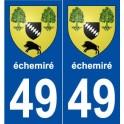 49 échemiré blason autocollant plaque stickers ville
