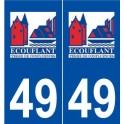 49 écouflant logo autocollant plaque stickers ville