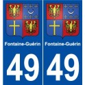 49 Fontaine-Guerin coat of arms sticker plate stickers city