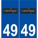 49 Fontevraud-l'Abbaye logo autocollant plaque stickers ville