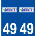 49 Fougeré logo sticker plate stickers city