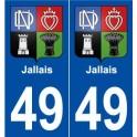 49 Jallais blason autocollant plaque stickers ville