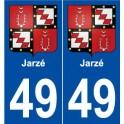 49 Jarzé coat of arms sticker plate stickers city