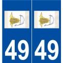 49 Juvardeil logo sticker plate stickers city