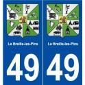 49 La Breille-les-Pins blason autocollant plaque stickers ville