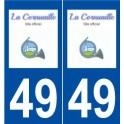 49 La Cornuaille logo sticker plate stickers city