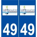 49La Pouëze logo sticker plate stickers city