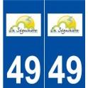 49 La Séguinière logo autocollant plaque stickers ville