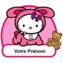 Autocollant Sticker personnalisé Hello Kitty prénom logo 3