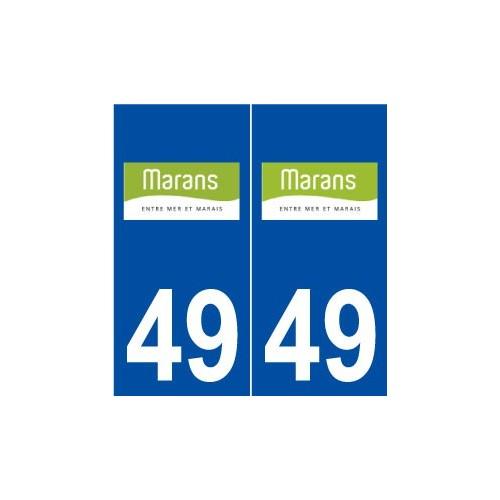 49 Marans logo autocollant plaque stickers ville