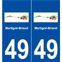 49 Martigné-Briand coat of arms sticker plate stickers city