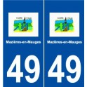 49 Mazières-en-Mauges logo sticker plate stickers city