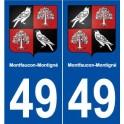 49 Montfaucon-Montigné blason autocollant plaque stickers ville
